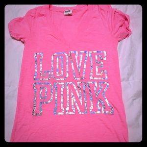 Love pink tee shirt